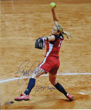 Jennie Finch signed Olympic Team USA 16X20 Photo 72 MPH Heater