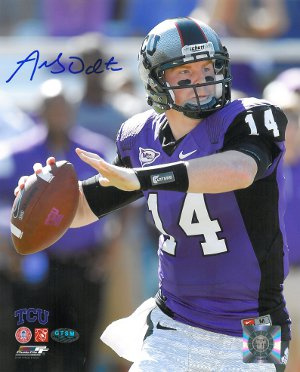 Andy Dalton signed TCU Horned Frogs 8x10 Photo- Dalton Hologram