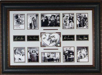 William Frawley unsigned I Love Lucy 27x39 Cast Multi-Photo Engraved Signature Series