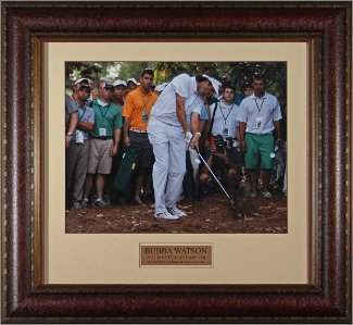Bubba Watson unsigned 16x20 Photo 2012 Masters Leather Framed
