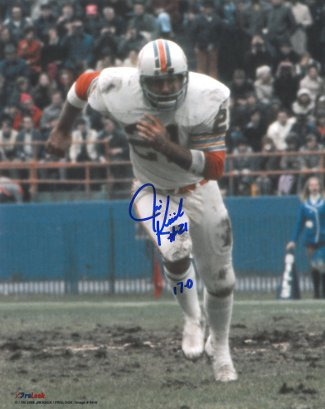 Jim Kiick signed Miami Dolphins 8x10 Photo 17-0