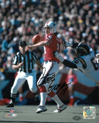Steve Grogan signed New England Patriots 8X10 Photo