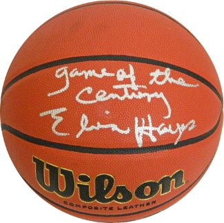 Elvin Hayes signed Wilson NCAA Indoor/Outdoor Basketball Game of the Century