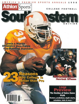Jamal Lewis unsigned Tennessee Vols Athlon Sports 1998 College Football Southeastern (SEC) Preview Magazine