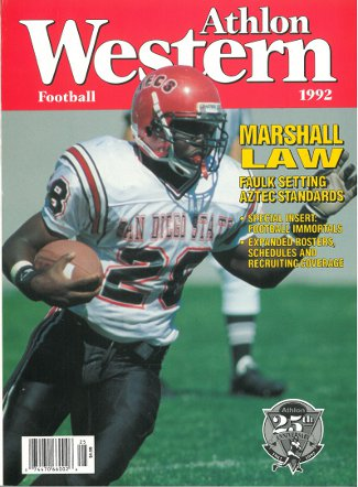 Marshall Faulk unsigned San Diego State Aztecs Athlon Sports 1992 College Football Western Preview Magazine