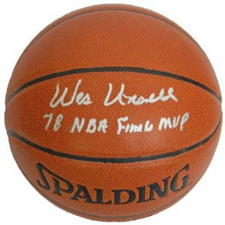 Wes Unseld signed Indoor/Outdoor Basketball 78 NBA Finals MVP