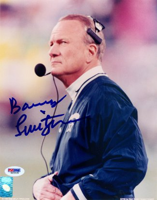 Barry Switzer signed Dallas Cowboys 8x10 Photo- PSA Hologram