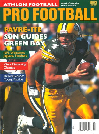 Brett Favre unsigned Green Bay Packers Athlon Sports 1995 NFL Pro Football Preview Magazine