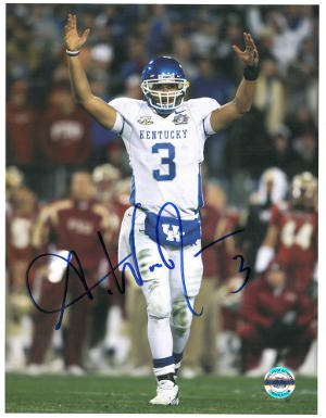 Andre Woodson signed Kentucky Wildcats 8x10 Photo