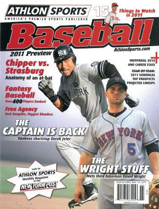 David Wright unsigned New York Mets Athlon Sports 2011 MLB Baseball Preview Magazine