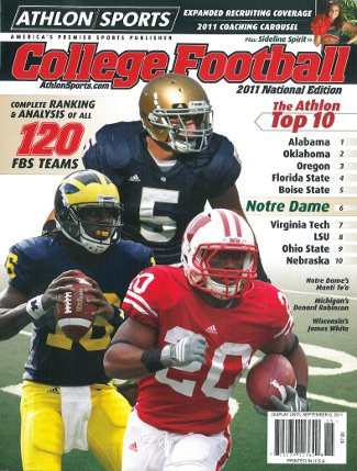 Denard Robinson unsigned Michigan Wolverines Athlon Sports 2011 College Football National Preview Magazine