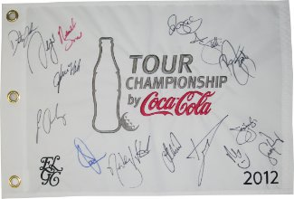 Athlon Sports Collectibles Brandt Snedeker signed Tour Championship by Coca Cola 2012 19x13 White Flag PGA Golf signed by 16 at Sears.com