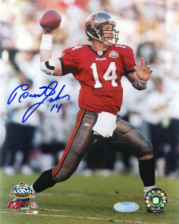 Brad Johnson signed Tampa Bay Buccaneers 16x20 Photo (SB XXXVII)- Mounted Hologram