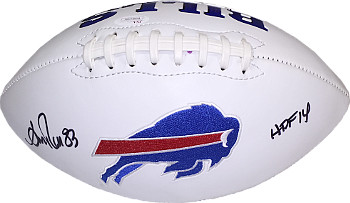 Andre Reed signed Buffalo Bills White Logo Football HOF 14- JSA Hologram