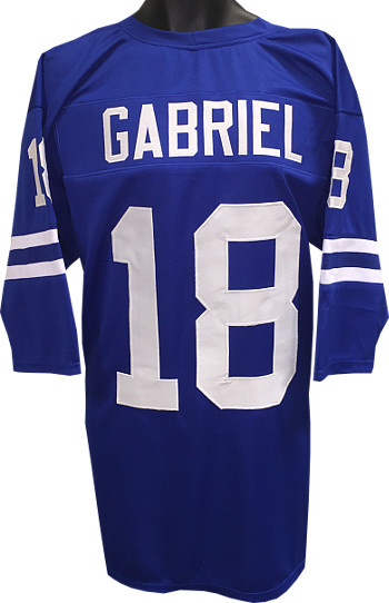 Roman Gabriel unsigned Blue TB Custom Stitched Pro Style Football Jersey 3/4 Sleeves XL