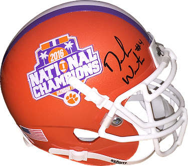 Deshaun Watson signed Clemson Tigers Schutt Authentic Mini Helmet 2016 National Champs Logo (on sides) #4