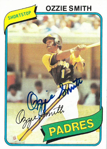 Ozzie Smith signed 1980 Topps San Diego Padres Trading Card- #393