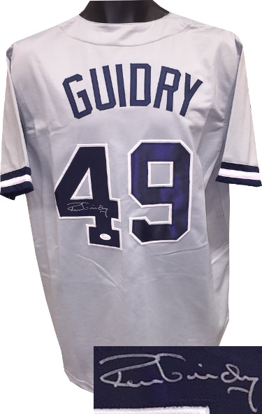 Ron Guidry signed Gray TB Custom Stitched Baseball Jersey XL- JSA Hologram