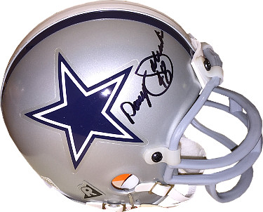Daryl Johnston signed Dallas Cowboys Riddell Mini Helmet #48 (black sig)