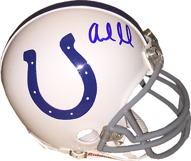 Andrew Luck signed Indianapolis Colts Riddell Mini Helmet- JSA Hologram #K52295 (blue sig)
