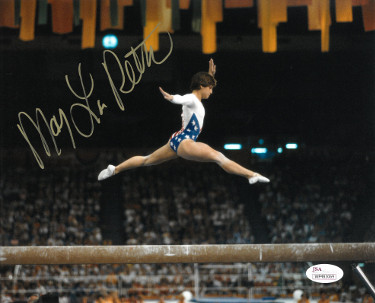 Mary Lou Retton signed Team USA Olympics 8x10 Photo- JSA Witnessed Hologram (1984 Olympics)