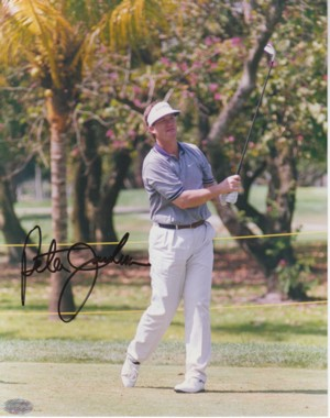 Peter Jacobsen signed 8x10 Photo- Mounted Hologram