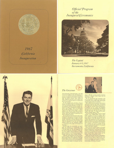 1967 Ronald Reagan California Governor Official Inaugural Program Jan 4-5, 1967
