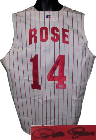 Pete Rose signed Cincinnati Reds Russell Athletic Authentic Jersey Vest