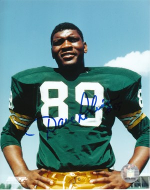 Dave Robinson signed Green Bay Packers 8x10 Photo- minor ding (2013 Hall of Fame)
