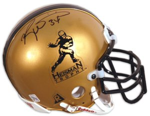 Ricky Williams signed Heisman Authentic Mini Helmet- Mounted Hologram