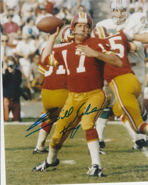 Billy Kilmer signed Washington Redskins 8x10 Photo