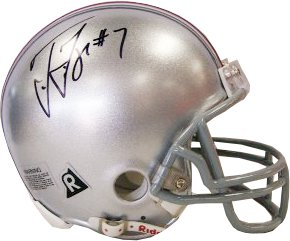 Ted Ginn, Jr. signed Ohio State Buckeyes Mini Helmet