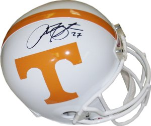 Arian Foster signed Tennessee Volunteers Full Size Replica Riddell Helmet- JSA Hologram