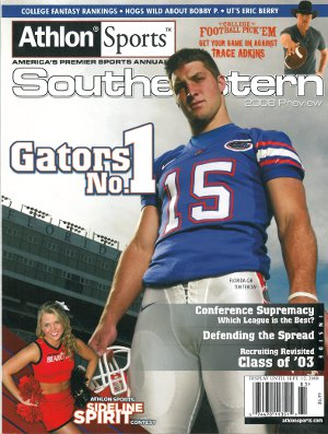 Tim Tebow unsigned 2008 Florida Gators Preseason SEC Magazine Preview