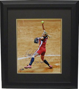 Jennie Finch signed Olympic Team USA 16X20 Photo 72 MPH Heater Custom Framed