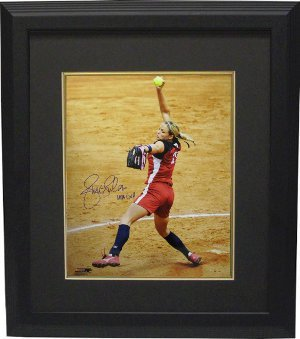 Jennie Finch signed Olympic Team USA 16X20 Photo USA GOLD Custom Framed