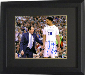 16d40814ac7 Jahlil Okafor signed Duke Blue Devils 16x20 Photo  15 Custom Framed (with Mike  Krzyzewski)