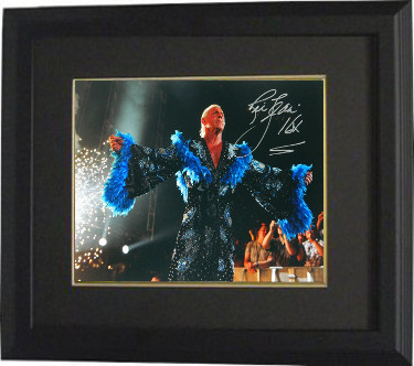 Ric Flair signed Wrestling 16x20 Photo Custom Framed 16X (blue robe/WWF/WWE/WCW/NWA/TNA)