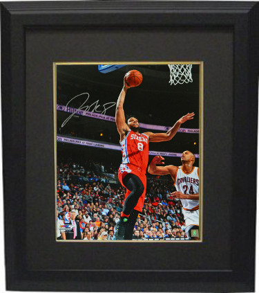 d54c36d5 Jahlil Okafor signed Philadelphia 76ers 16x20 Photo Custom Framed (red  jersey lay-up vs Cavaliers)