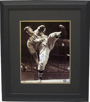 Bob Feller signed Cleveland Indians 16x20 Photo HOF62 Custom Framed