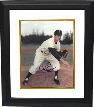 Carl Erskine signed Brooklyn Dodgers 8x10 Photo Custom Framed