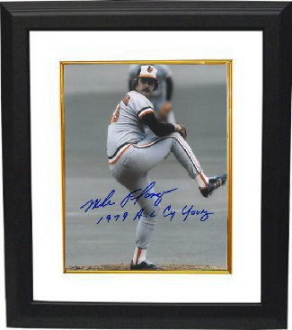 Mike Flanagan signed Baltimore Orioles 8x10 Photo 1979 AL CY Young Custom Framed