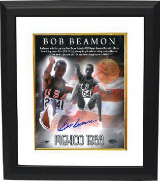 Bob Beamon signed Team USA Track & Field 8x10 Photo Custom Framed 1968 Mexico Olympics World Record