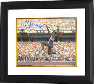Carl Lewis signed Team USA 16x20 Photo Custom Framed 1992 Barcelona Olympics 9 X Gold