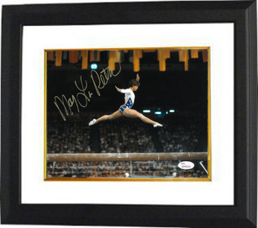 Mary Lou Retton signed Team USA Olympics 8x10 Photo Custom Framed- JSA Witnessed Hologram (1984 Olympics)