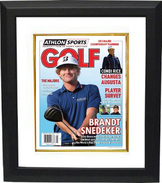 Brandt Snedeker unsigned 2013 Athlon Sports PGA Golf Preview Cover Custom Framed