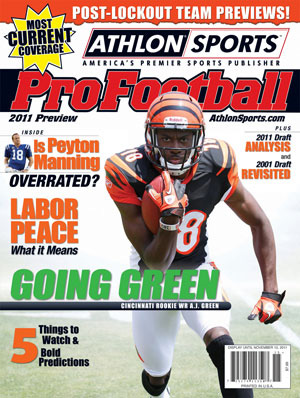 2011 Athlon Sports NFL Pro Football Magazine Preview- Cincinnati Bengals Cover