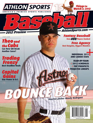 2012 Athlon Sports MLB Baseball Preview Magazine- Houston Astros Cover
