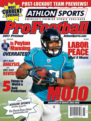 2011 Athlon Sports NFL Pro Football Magazine Preview- Jacksonville Jaguars Cover