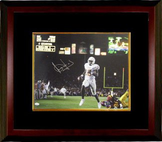 Vince Young signed Texas Longhorns 16x20 Photo Custom Framed- JSA Hologram- Rose Bowl National Championship Game